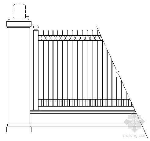 围墙栏杆详图