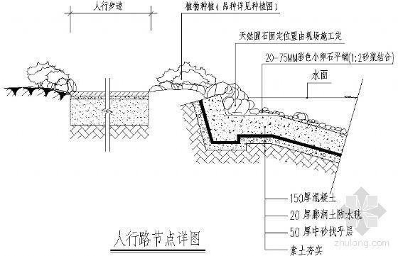 人行路节点详图