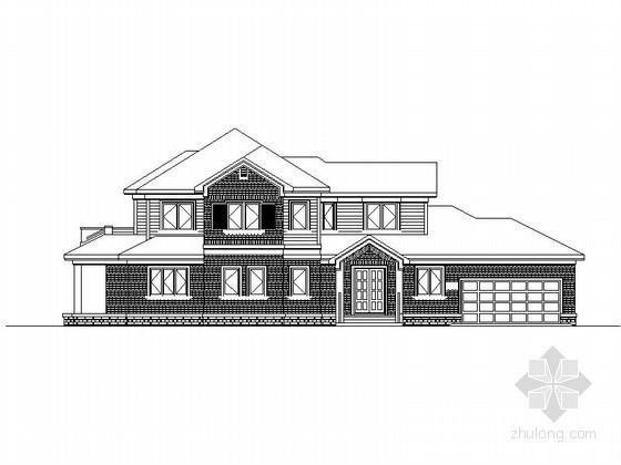 某玫瑰园别墅区二层独立别墅建筑施工图