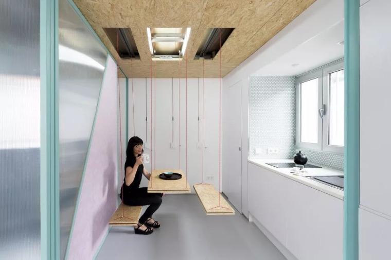 不足60㎡的小空间,如何设计能做到处处高逼格?_15