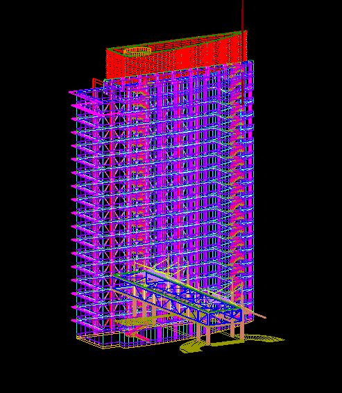 广东框剪结构企业办公楼设计施工图