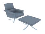 休息组合沙发3D模型下载