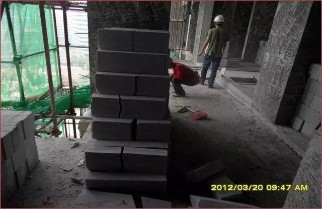 32张照片说明白,蒸压加气混凝土砌块施工常见质量问题!