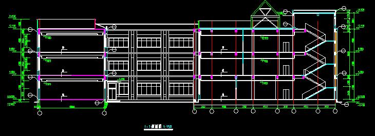 少儿图书馆建筑设计施工图
