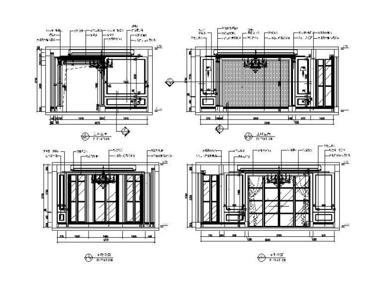 【江苏】两套样板房设计CAD施工图(含效果图)_2
