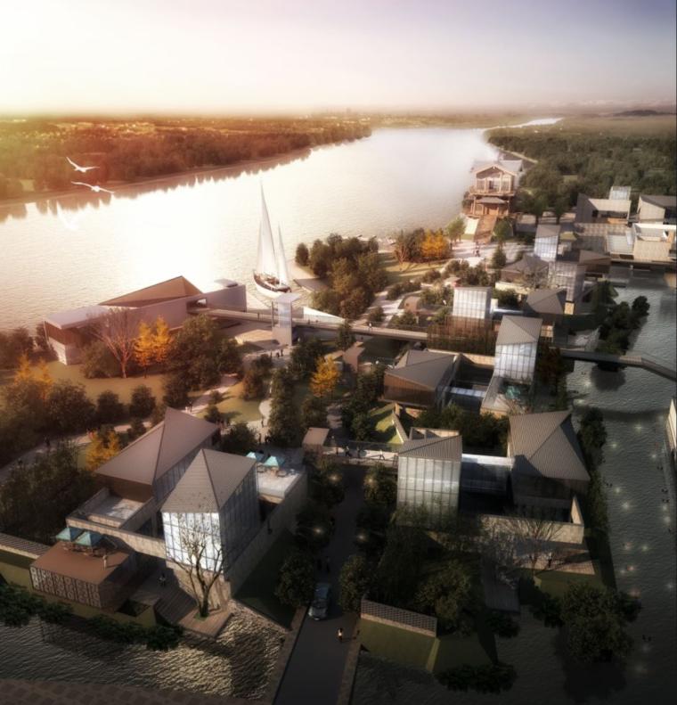 [2018项目]绿色生态特色小镇田园综合体设计方案CAD+SU+文本