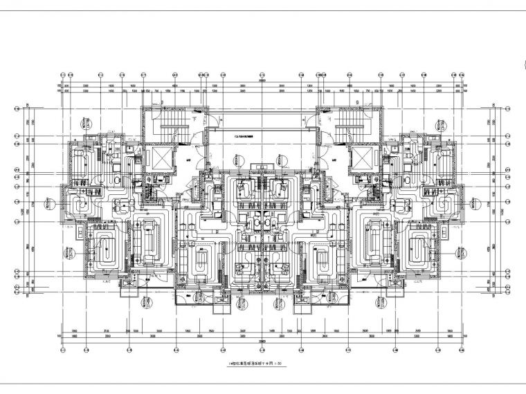 多栋高层住宅楼及商业配套公建暖通施工图设计