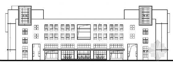 某五层学校教学楼建筑方案图