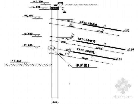 深基坑排桩及预应力锚索支护结构详细设计图纸