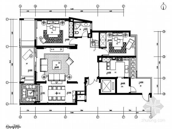 [义乌]欧式别墅室内施工图(含效果图)