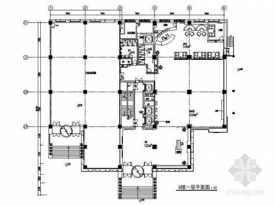 [北京]毗邻地坛公园涉外旅游清新雅致酒店装修施工图(含电气)