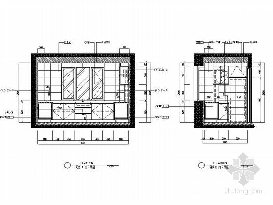 [沈阳]地产集团时尚现代三居室样板间装修图厨房立面图