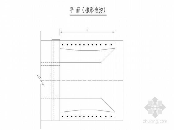 圆管涵钢筋砼跌井防落物网构造图