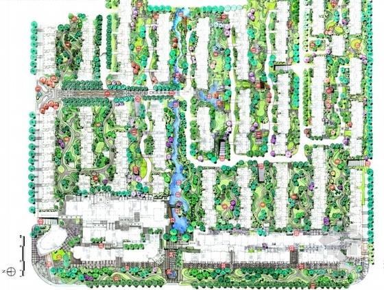 [江苏]新中式老街景观方案设计文本-总平面图