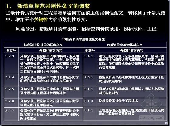 [福建]2013版工程量清单计价规范应用讲义(图表丰富54页)