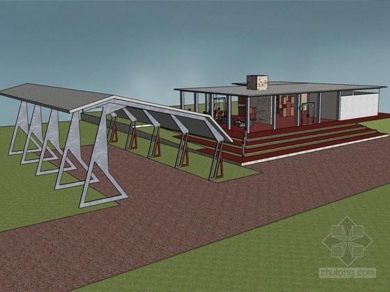 密斯建筑设计SketchUp模型下载
