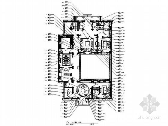 [温州]两层别墅欧式风格室内设计施工图(含效果图)