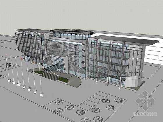 现代公司建筑SketchUp模型下载-现代公司建筑