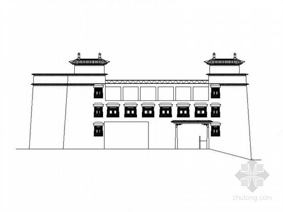 [西藏]三层框架结构藏式风格医疗建筑施工图(含效果图)