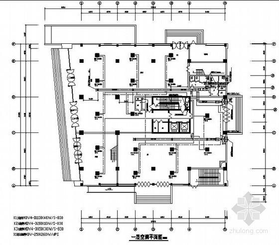 某地行政服务中心综合楼空调图纸