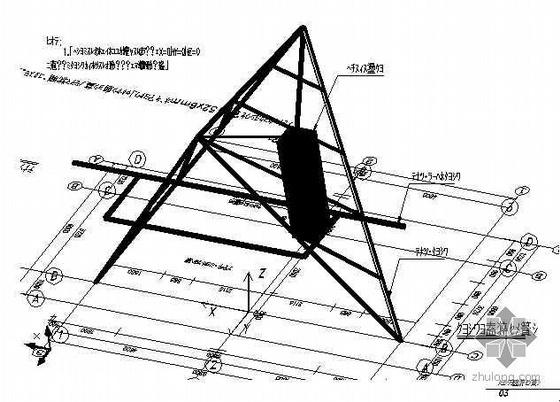09年[武汉]某展览馆金字塔门头钢结构外装饰工程建筑施工图