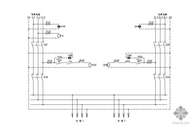 双电源自投互复原理图