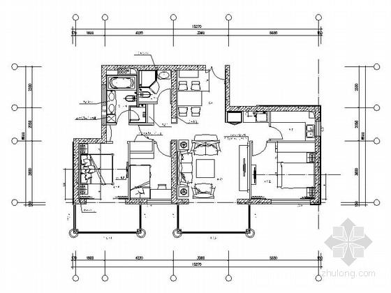 [北京]花园小区现代三居室装修图(含效果)