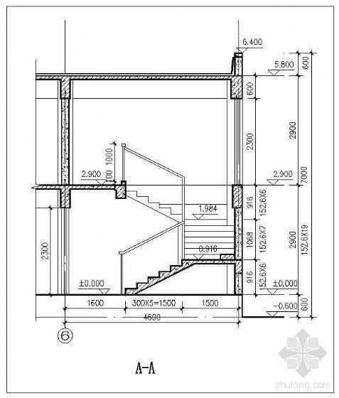 某十一层板式住宅楼梯详图(二)