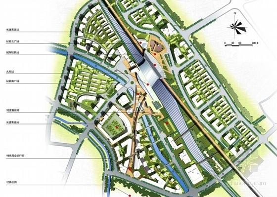 大型交通枢纽周边地区规划设计总平面图