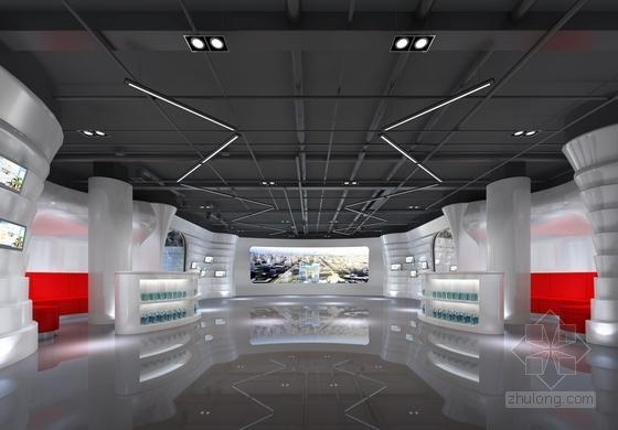 工业展厅材料v工业施工图(含效果图)长兴平面设计师图片