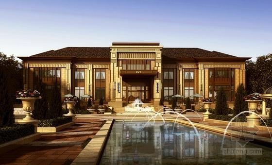 [山东]法式风格中高档住宅小区规划设计方案文本-法式风格中高档住宅小区效果图