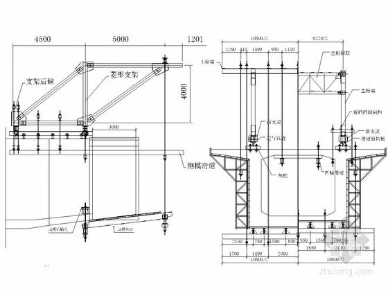 64米连续梁挂篮施工图附计算书(55页)