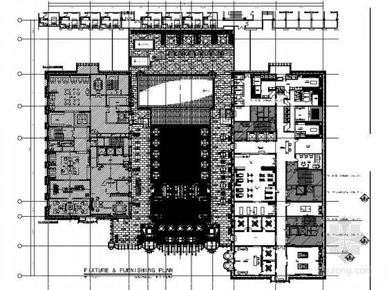 [福建]独资企业五星级高档酒店装修CAD施工图(含效果)