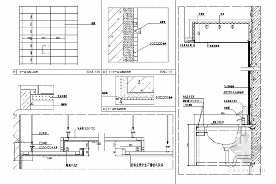 [内蒙古]大型家居建材主题购物中心施工图(含效果图) 立面图