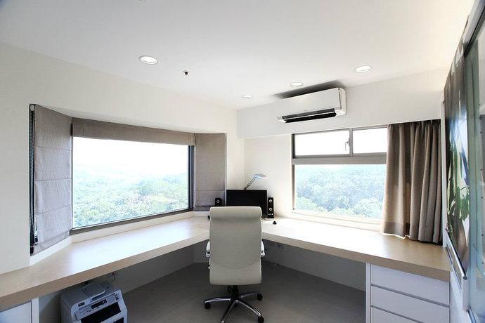 95平简约二居客厅背景墙电视墙设计效果图_8