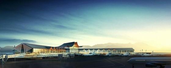 """[湖南]""""X""""型模块化钢结构机场建筑设计方案文本(含CAD及多媒体)-""""X""""型模块化钢结构机场建筑效果图"""