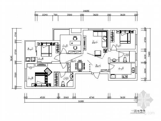[浙江]现代三居室家庭装修施工图(含效果图)
