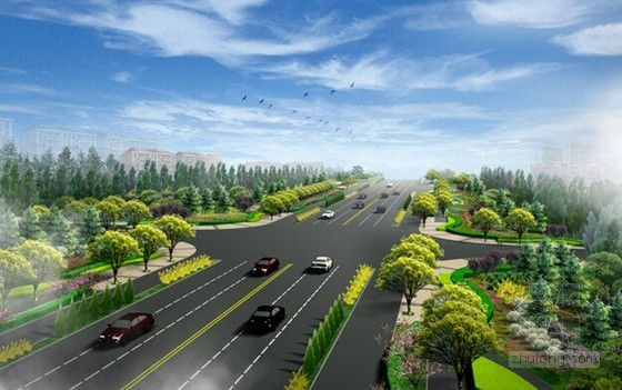 [山东]道路景观绿化工程预算书(附全套图纸 2个标段)