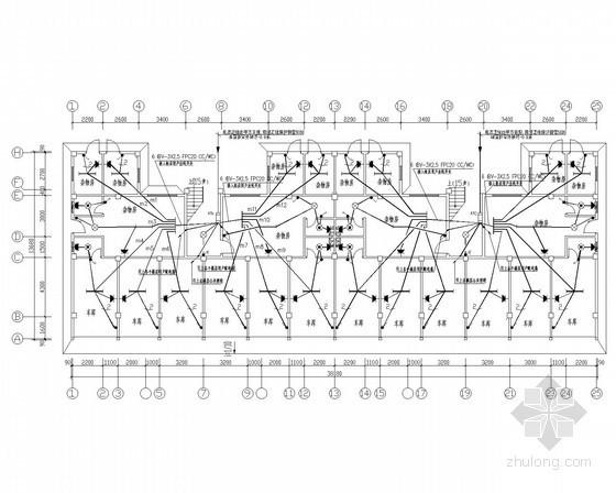 7层职工住宅楼全套电气施工图纸