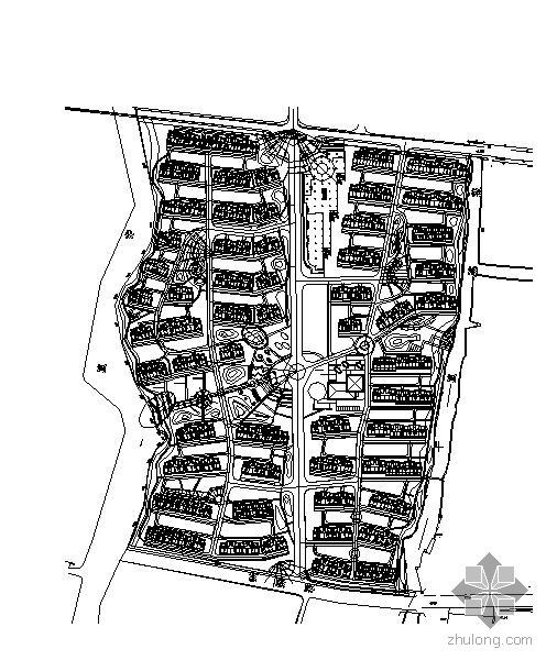 某居住区景观设计平面图