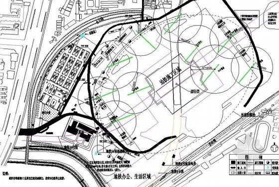 [北京]火车站站房扩建工程施工现场平面布置图(5张)
