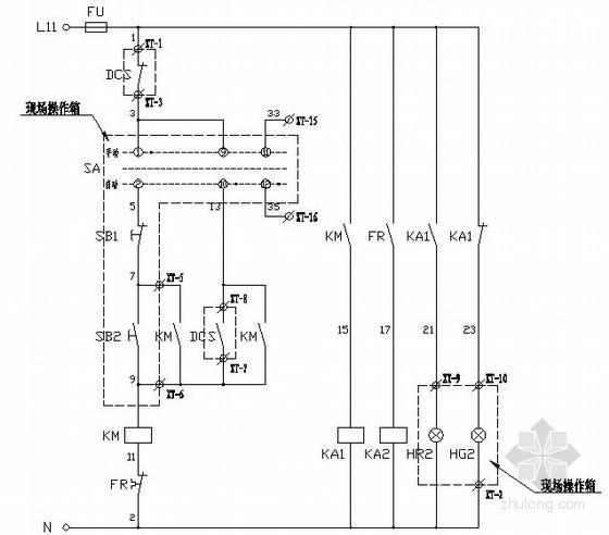 常用电机二次控制原理图