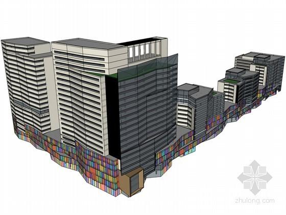 综合体建筑SketchUp模型下载