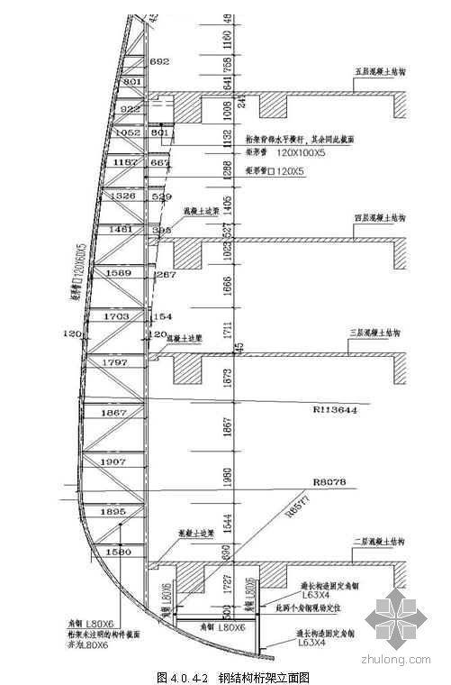 大跨度悬挑双曲面铜板幕墙施工工法