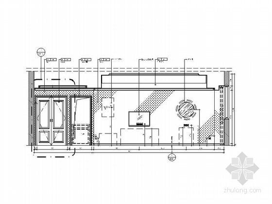 [原创]时尚现代商务酒店客房部分装修图(含效果图) 立面图
