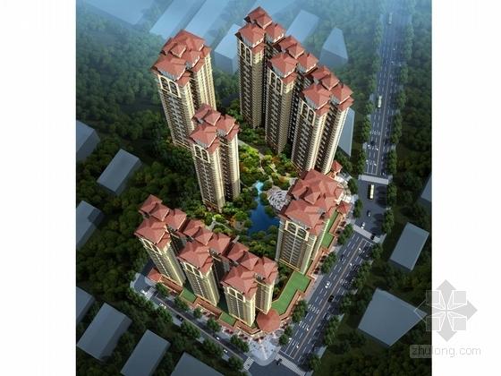 [广西]绿色简欧风格住宅区规划设计方案文本