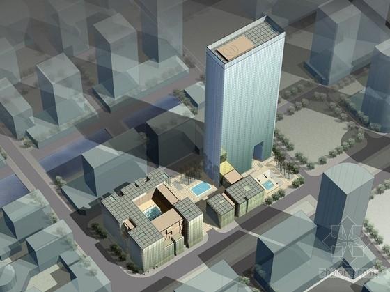 [浙江]现代双层玻璃幕墙式交通服务中心建筑设计方案文本