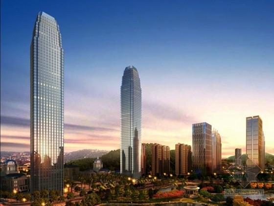 [贵州]74层型钢框架-矩形核心筒结构超B级超高层综合楼结构施工图(含6层地下室)