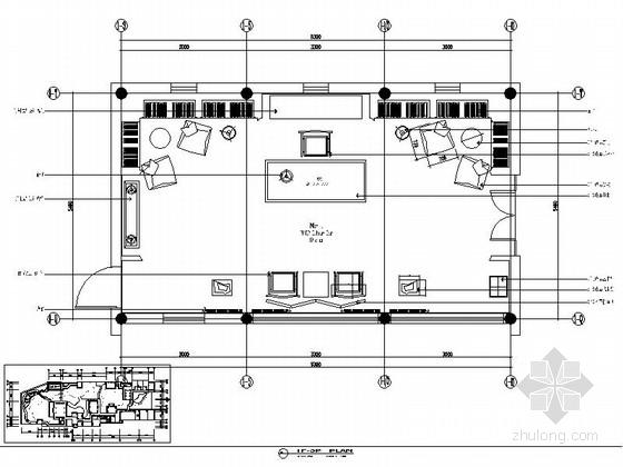 现代中式会所书吧室内装修施工图(含效果)
