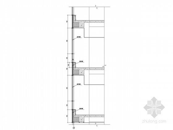[江苏]38层商业综合体墙身剖面大样图(上海知名公司设计)